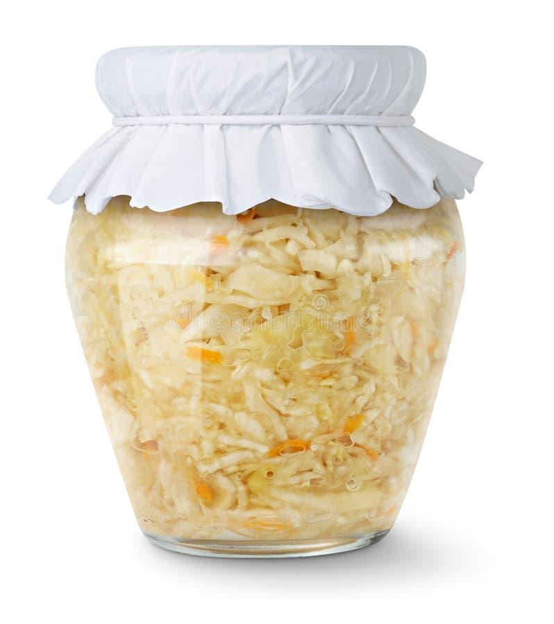 Marinated cabbage (sauerkraut) stock images