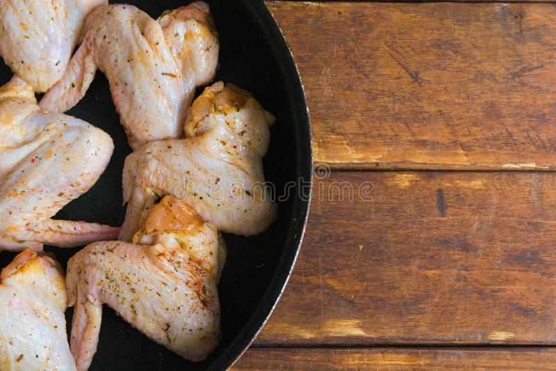 Marinated chicken wings royalty free stock photos