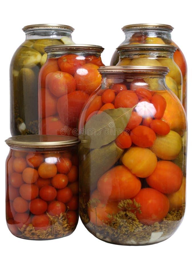 marinated grönsaker arkivfoton