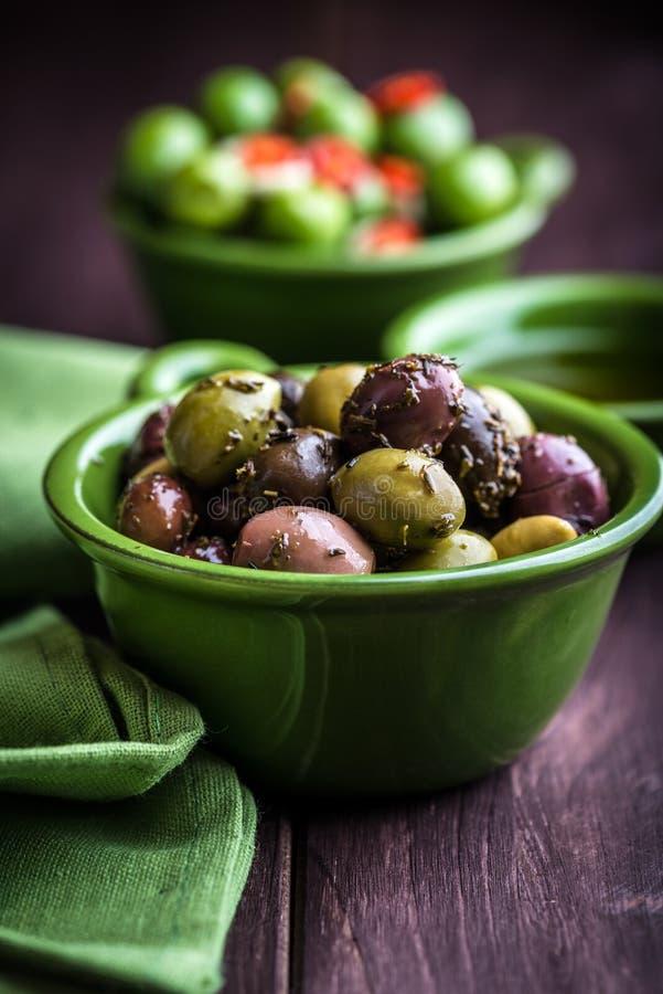 marinated olivgrön royaltyfria foton