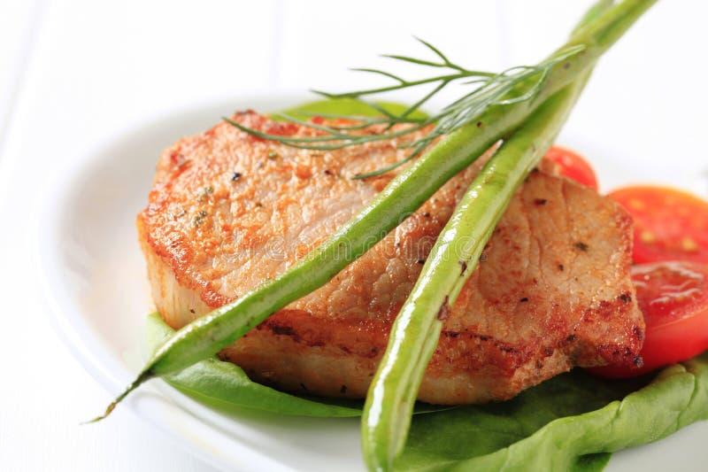 Download Marinated pork chop stock photo. Image of leaves, boneless - 27002842