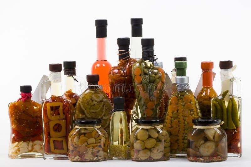 marinated produkter arkivfoton