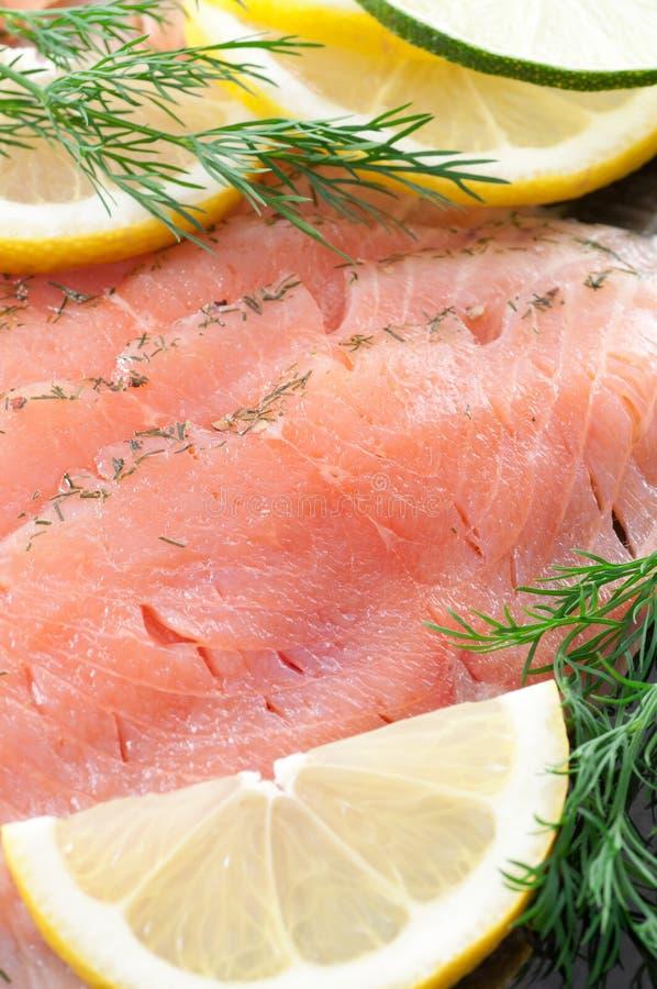 Marinated Salmon stock images