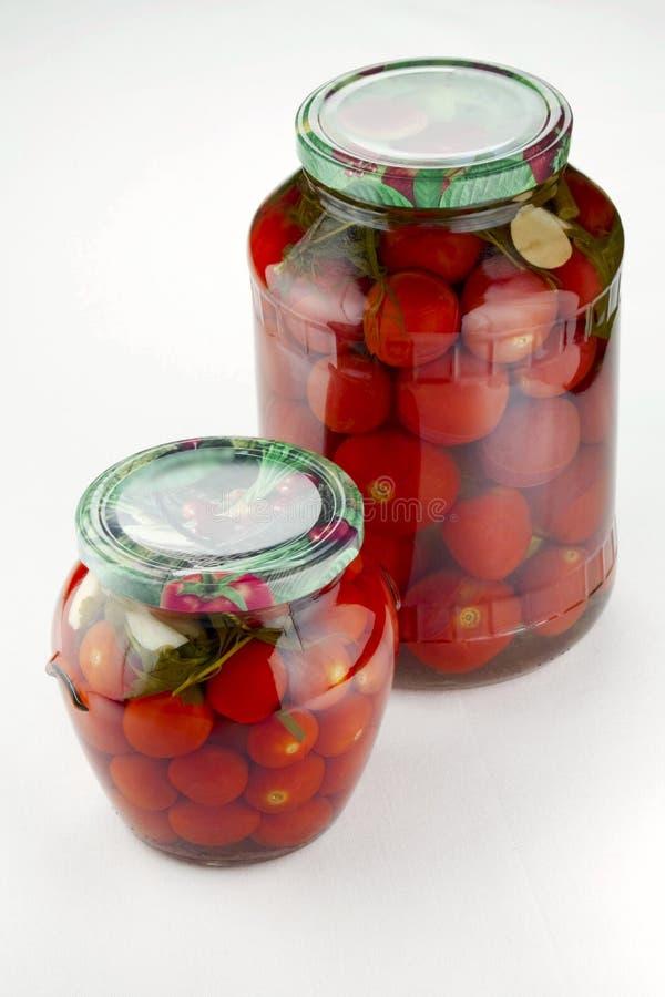 Marinated tomatoes homemade stock photo