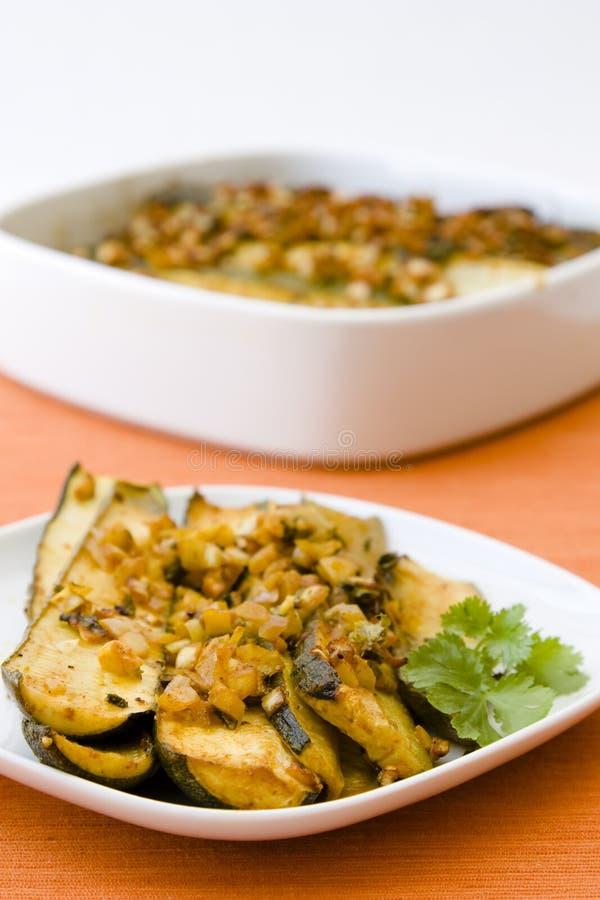 Marinated Zucchini Stock Photography