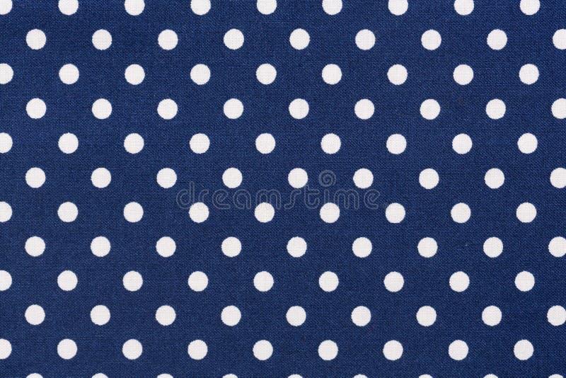 Marinblå vit pricktygtextur arkivbild
