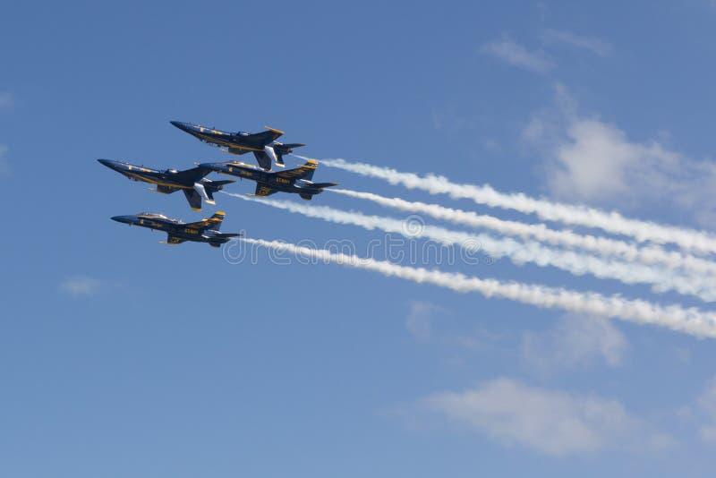 Marinblåa änglar royaltyfri fotografi