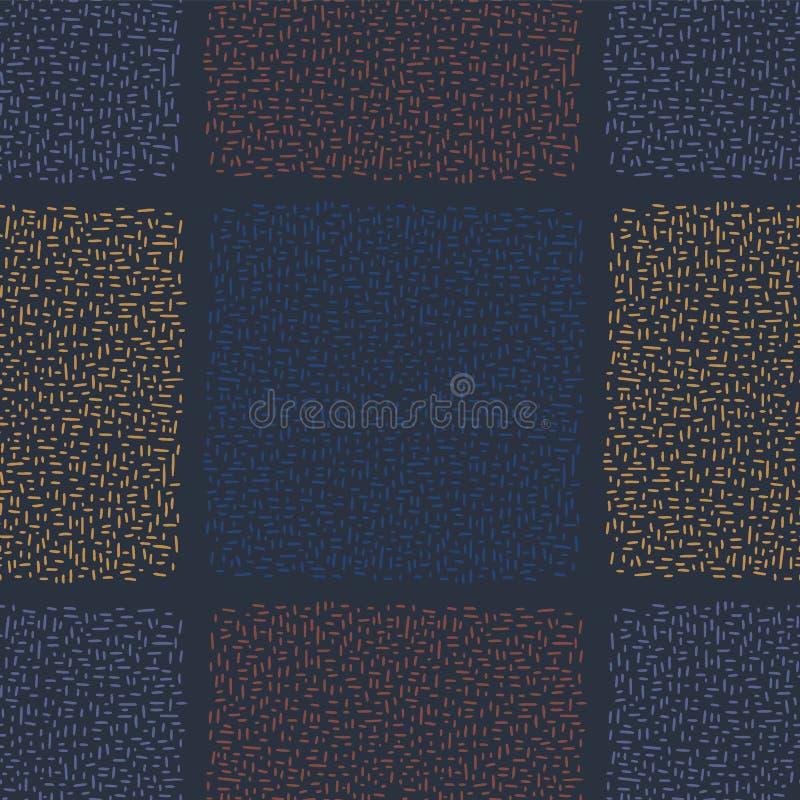 Marinblått abstrakt raster för Geo klotterfyrkant vektor illustrationer