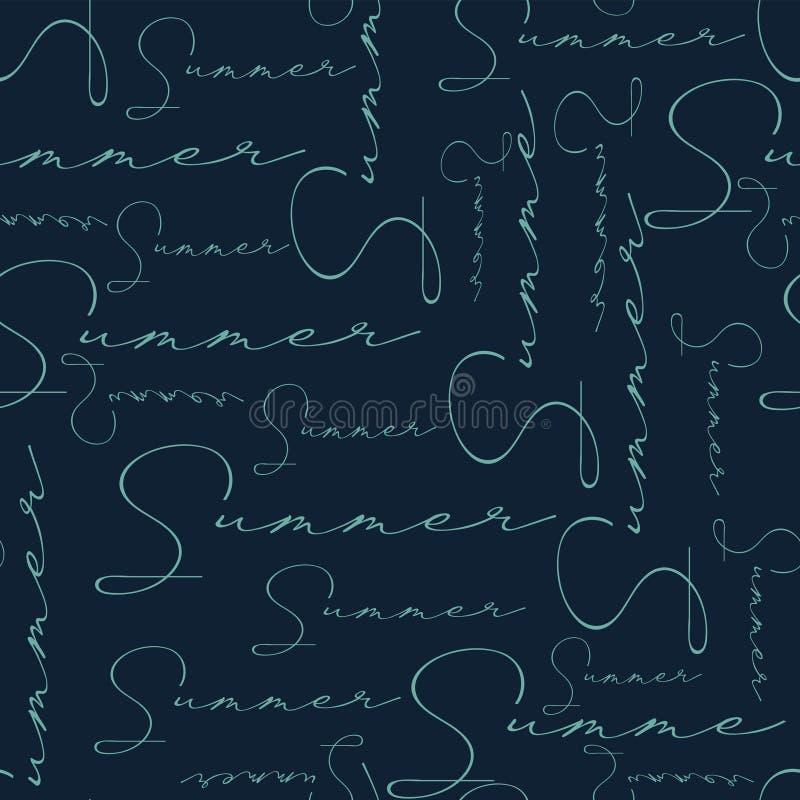 Marine à la mode de modèle de conception des textes d'été de mode illustration stock