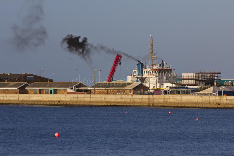 Download Marine and air pollution stock photo. Image of afternoon - 25590336