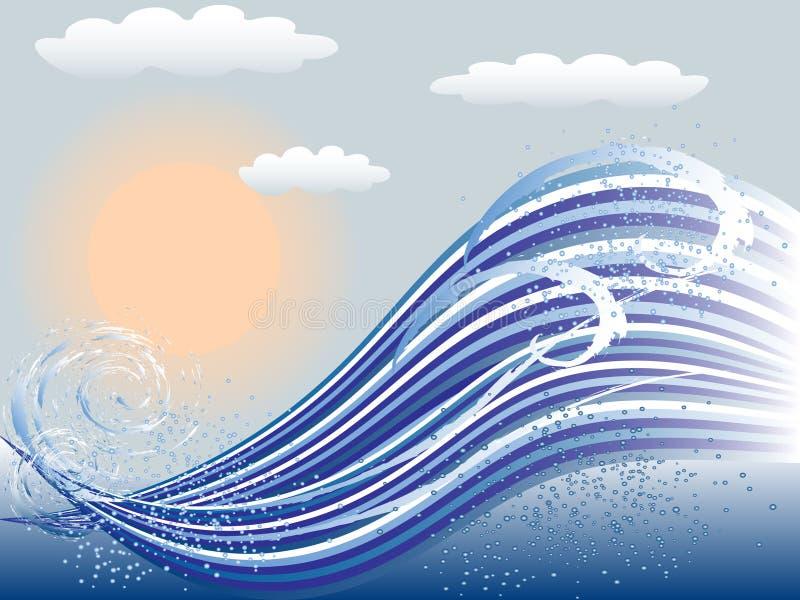 Download Marine background stock vector. Illustration of ocean - 9613578