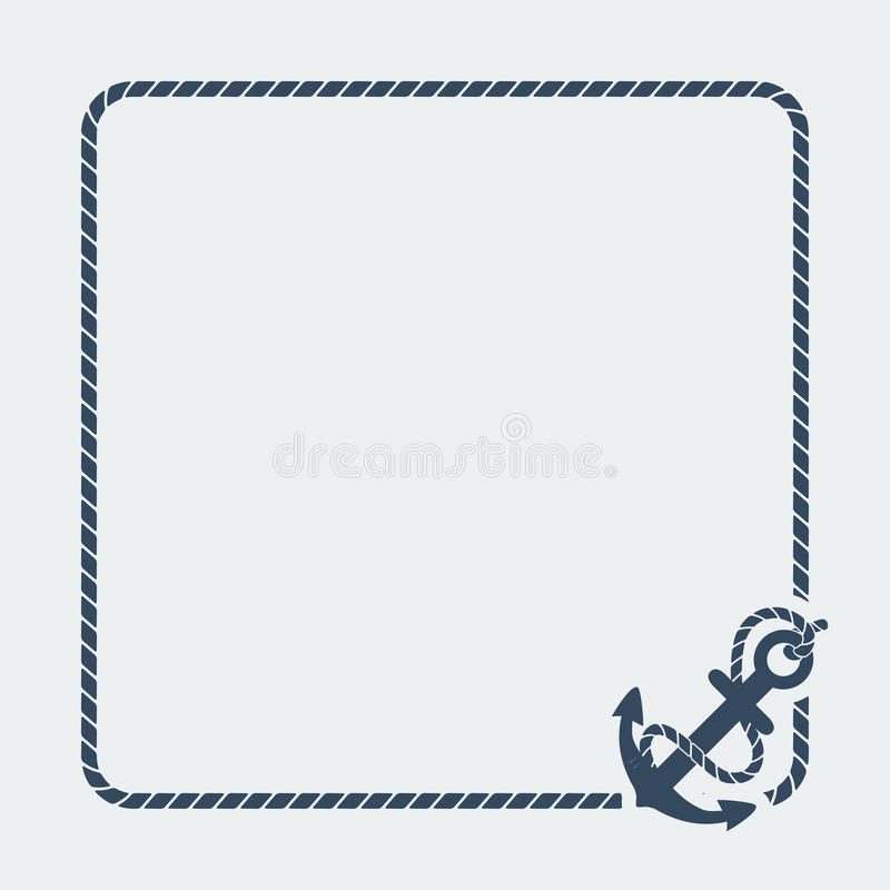 Download Marine Background With Anchor Stock Vector - Image: 41483044