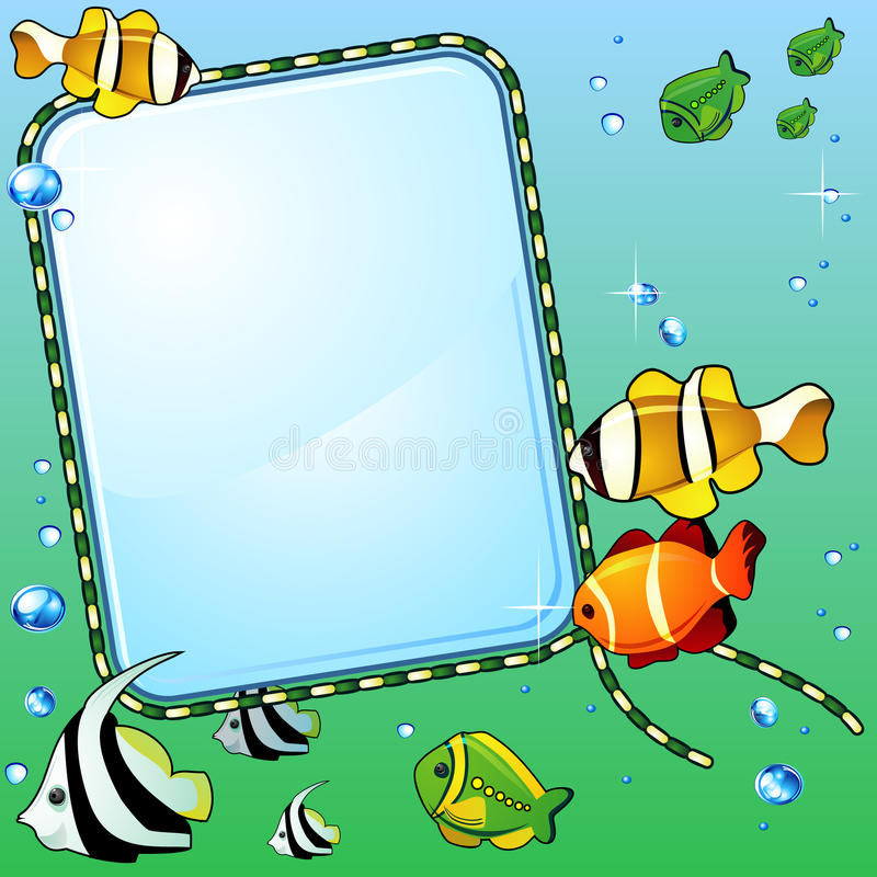 Download Marine Background With Fish Stock Vector - Illustration of depth, template: 20133710