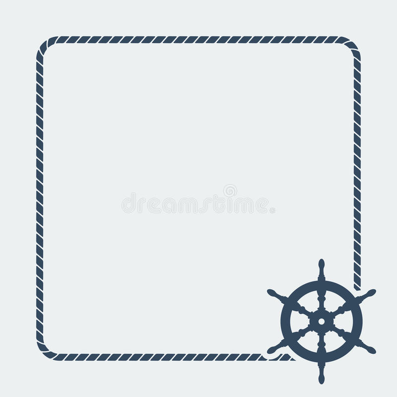 Download Marine Background With Steering Wheel Stock Vector - Illustration: 41483039