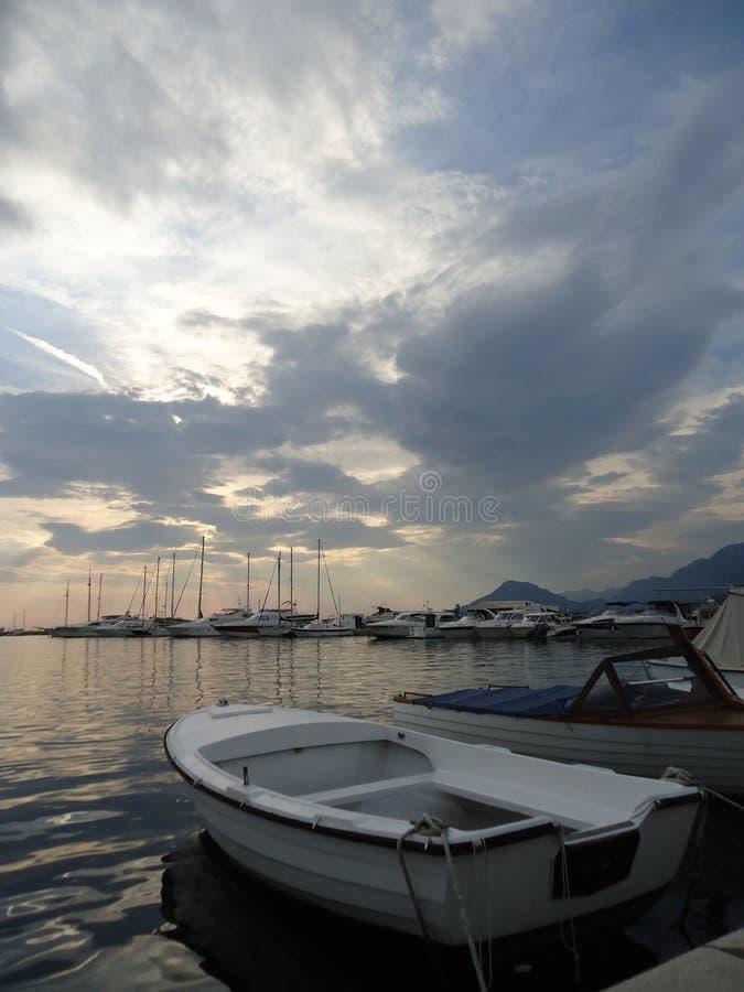 Marine in Bar, Montenegro royalty-vrije stock afbeelding