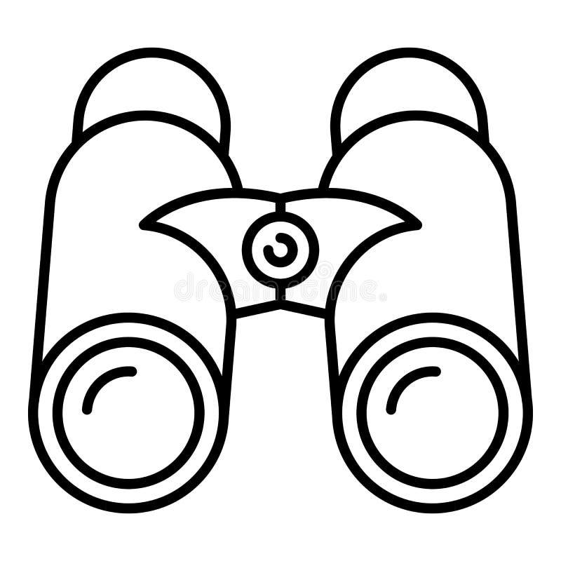 Marine binoculars icon, outline style royalty free illustration