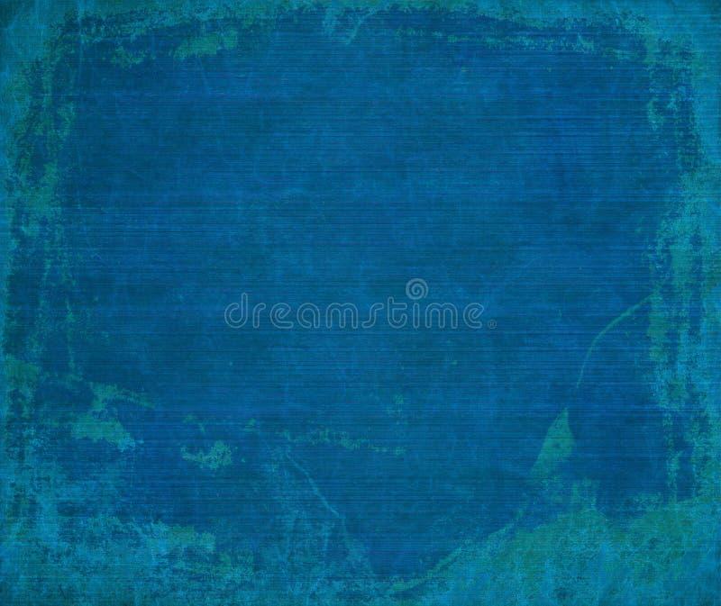 Marine blue grunge ribbed wood background stock photography