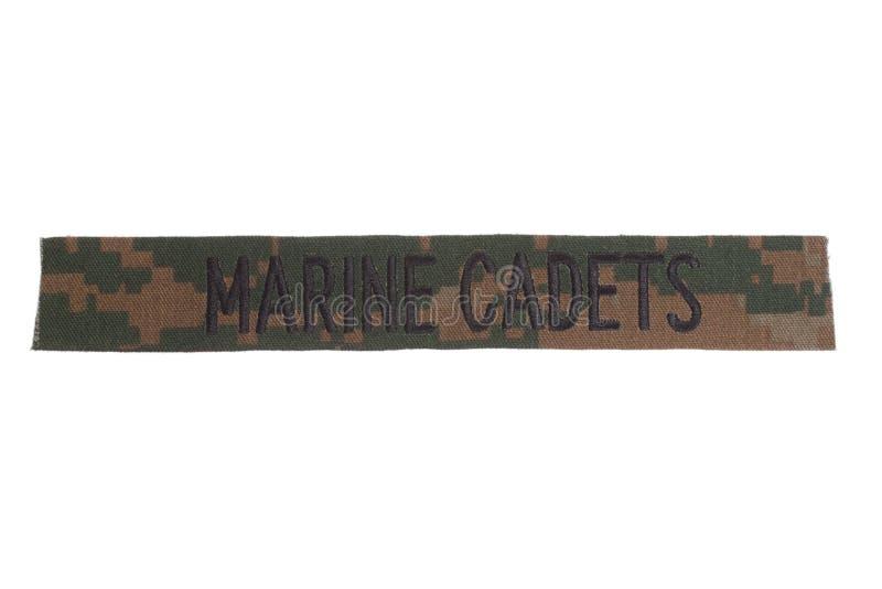 Marine cadets uniform badge. Isolated on white royalty free stock photo