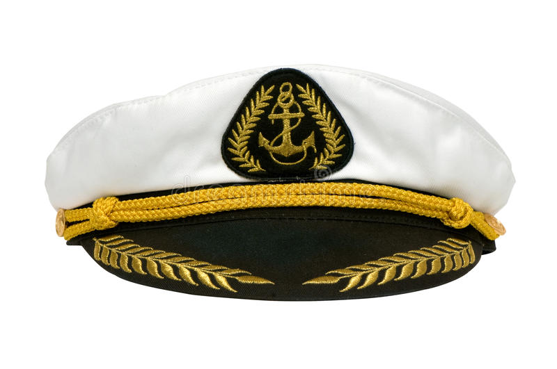 Marine cap. Cap fron brave and strong captain royalty free stock photo