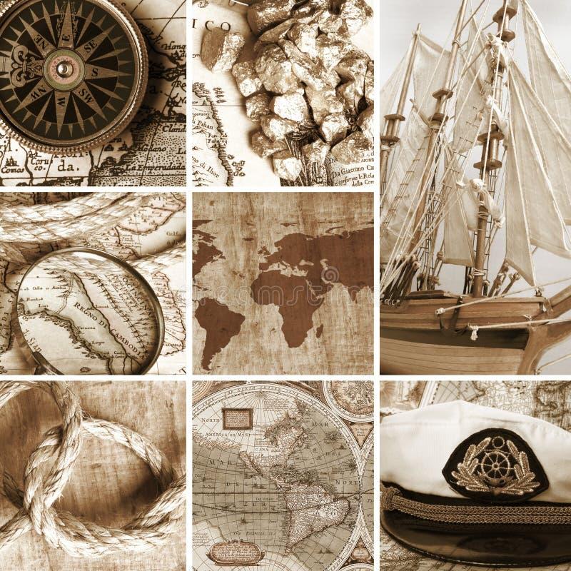 Marine collage stock photo
