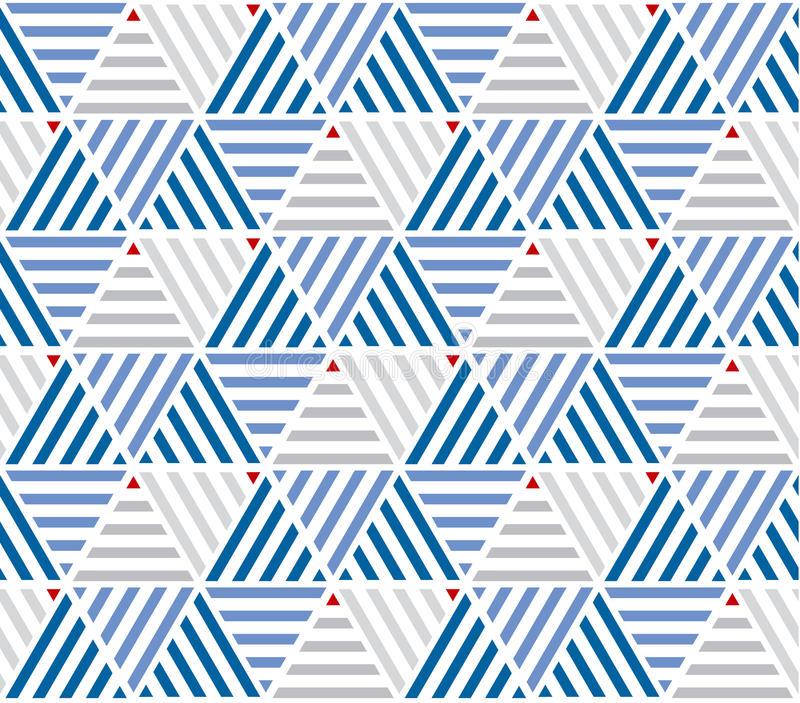 Marine color stripes seamless pattern. stock illustration