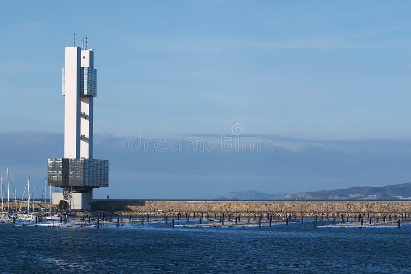 Marine Control tower stock image