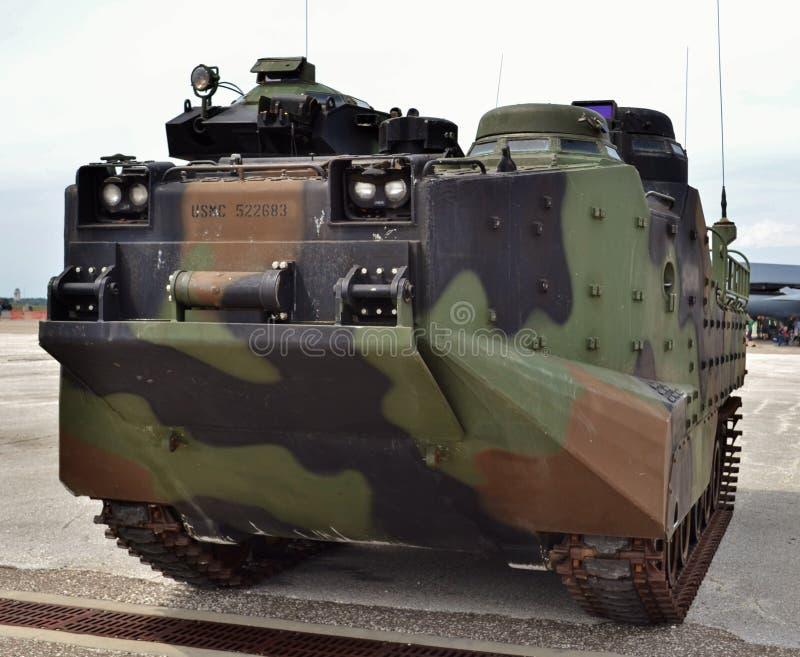 Marine Corps Assault Amphibious Vehicle Amtrack imagens de stock