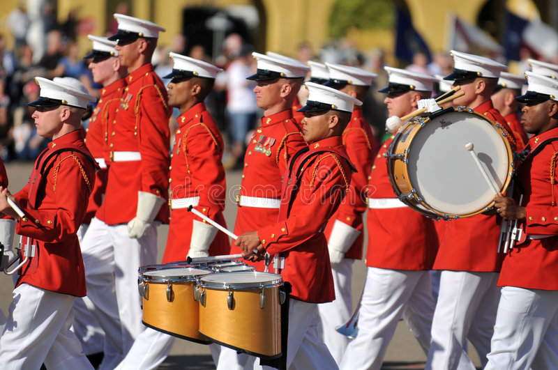 Download Marine Corps Marching Band editorial photography. Image of usmc - 4538482