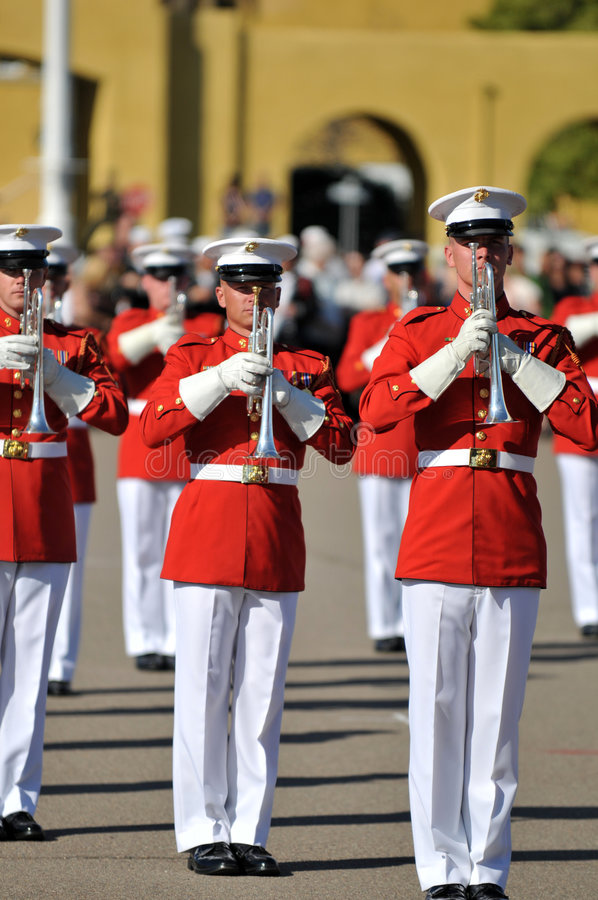 Download Marine Corps Marching Band editorial photography. Image of music - 4538617