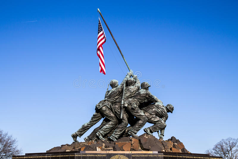 Marine Corps Memorial i Washington, DC arkivbilder