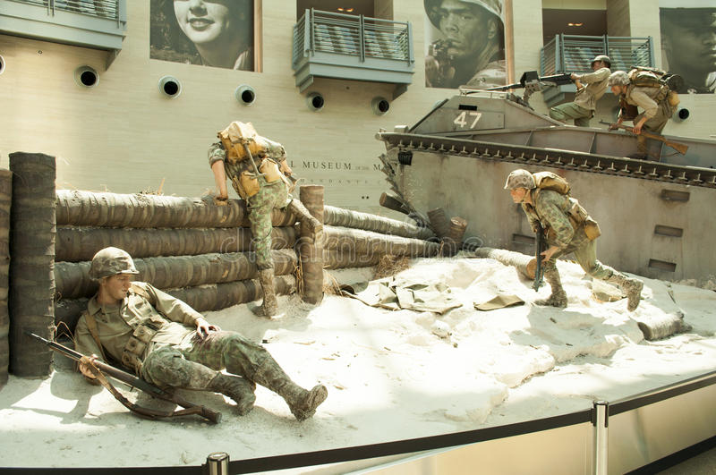 Marine Corps Museum. An image of display of a beach assult at the Marine Corps Museum in Quantico Virginia stock photos
