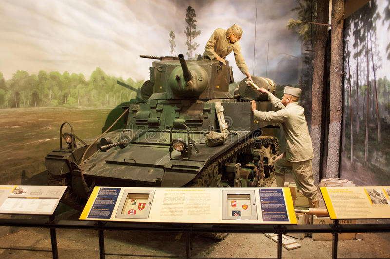 Marine Corps Museum. An image of display of a tank at the Marine Corps Museum in Quantico Virginia royalty free stock photography