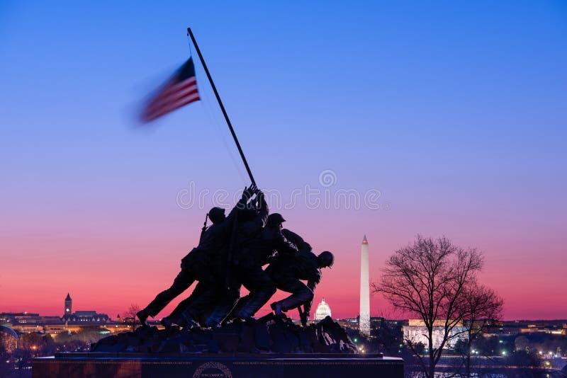 Marine Corps War Memorial image stock