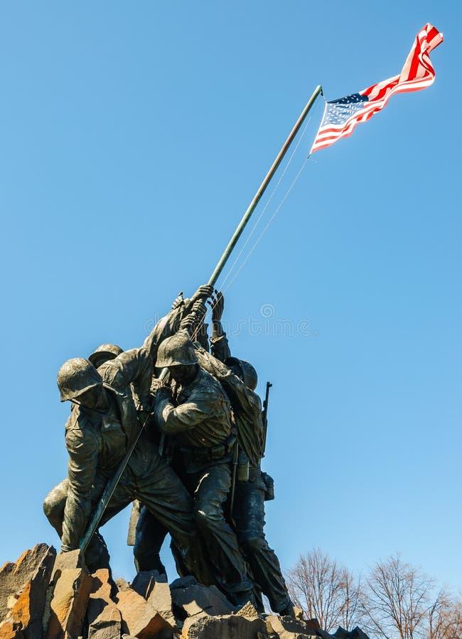 Marine Corps War Memorial stock foto