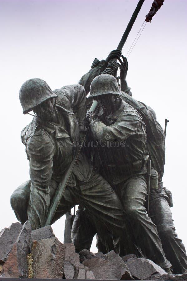 Marine Corps War Memorial. Famous closeup of the Marine Corps Memorial statue stock image