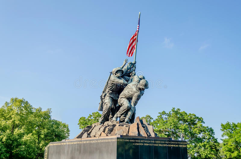 Download Marine Corps War Memorial editorial image. Image of corps - 32328600