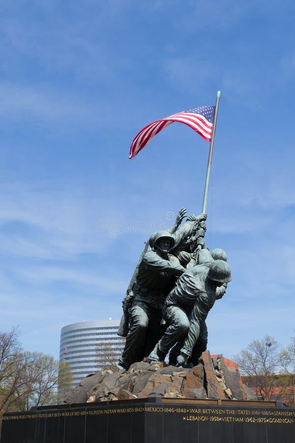 Marine Corps War Memorial nella CC fotografia stock libera da diritti