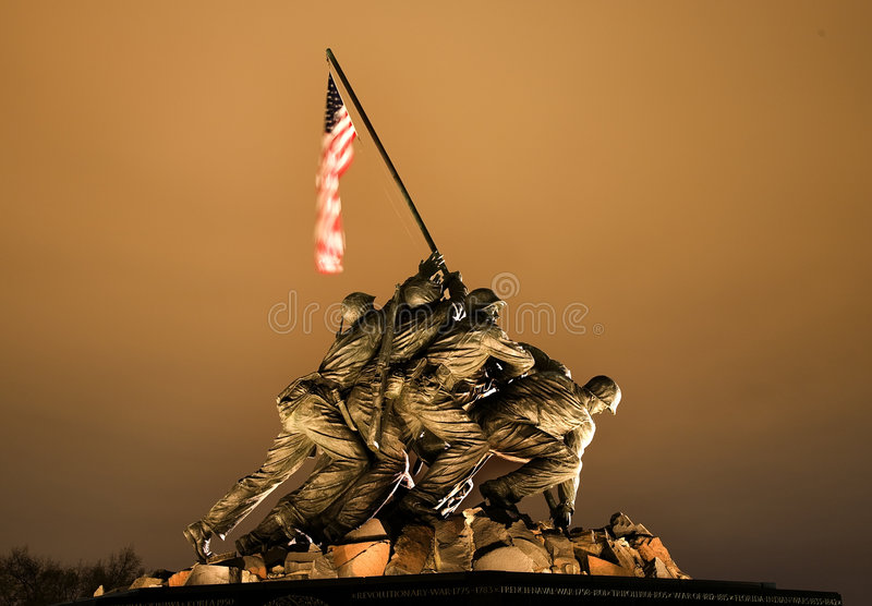 The Marine Corps War Memorial Washington DC stock photo