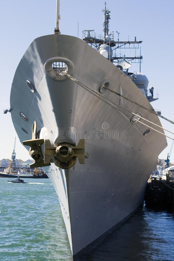 marine de missile de destroyer de croiseur nous images stock