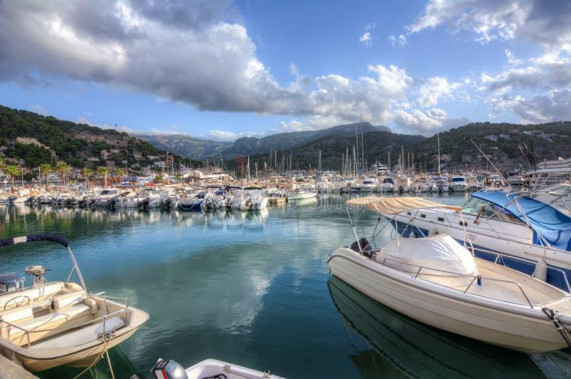 Marine de Soller de port, Majorque, Espagne images libres de droits