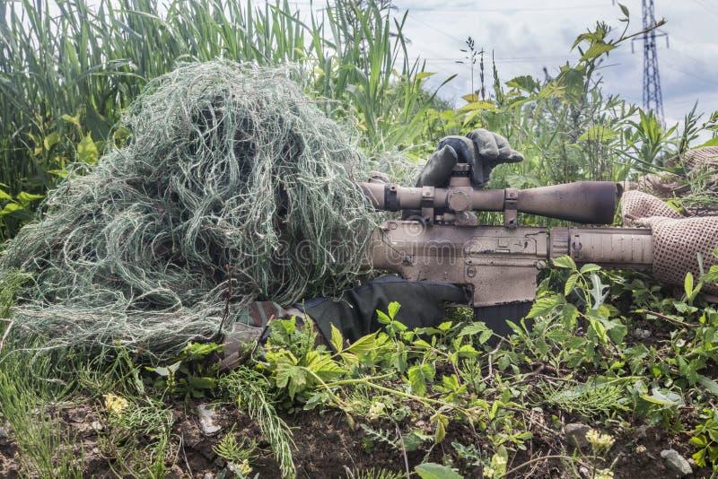 Marine-Dichtungs-Scharfschütze stockfotos