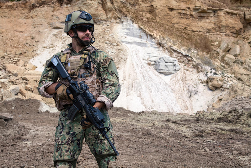 Marine DICHTUNGS-Team lizenzfreies stockfoto