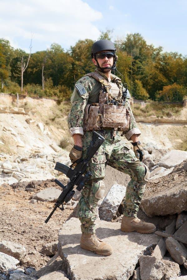 Marine DICHTUNGS-Team lizenzfreies stockbild