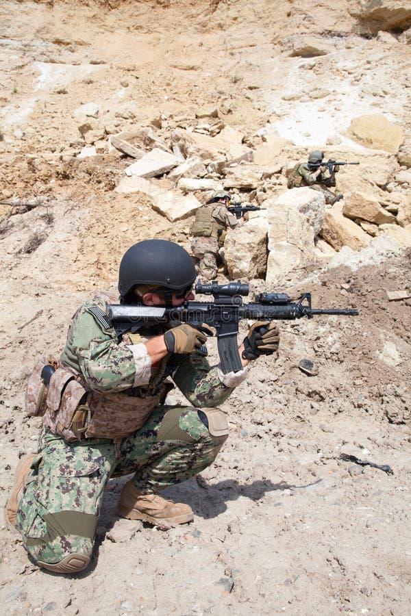Marine DICHTUNGS-Team stockbild
