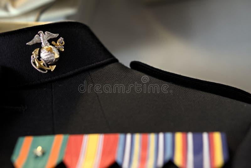 Marine dress blue uniform royalty free stock photo