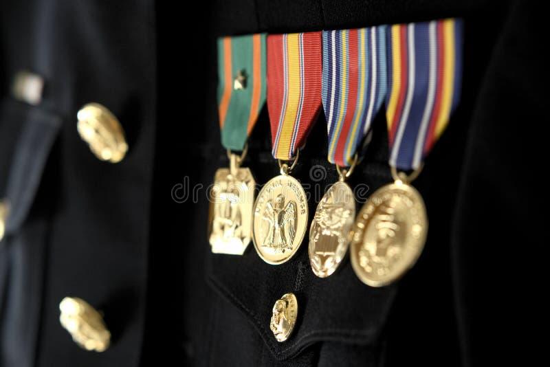 Marine dress blue uniform royalty free stock photos