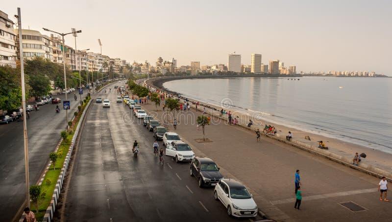 Marine Drive Mumbai fotos de stock royalty free