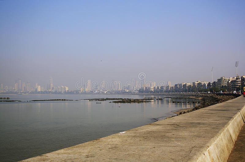 Marine Drive Mumbai stock image