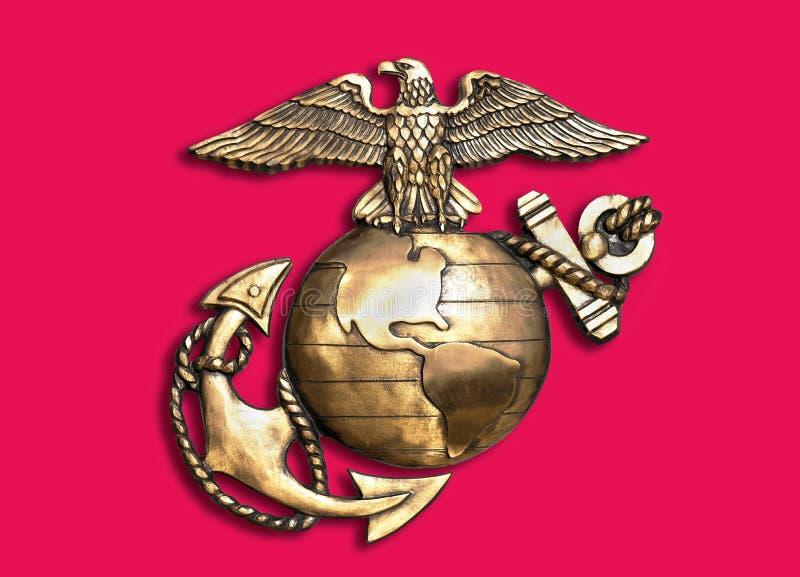 Marine Eagle, Bol en Anker stock afbeelding