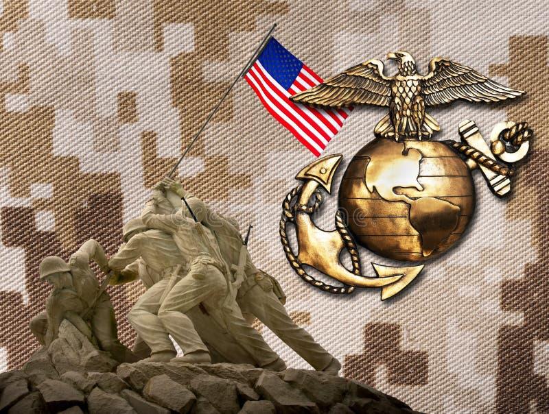 Marine een geschiedenis van excelence stock afbeelding